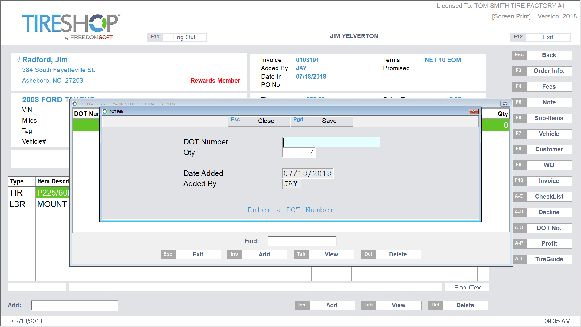 Freedomsoft Registration Screenshot